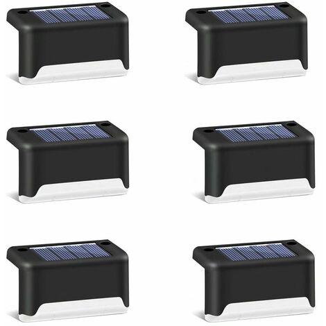 TRIOMPHE 6 lumières solaires d'escalier de cour extérieure clôture de jardin décoration de paysage lumières solaires de marche