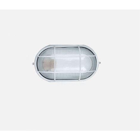 TRIOMPHE Applique de plafond pour salle de sauna LED Lampe étanche à l'humidité Ronde Sous-sol Garage Atelier Entrepôt Lampe anti-poussière Arbre de salle de bains Sauna Applique de plafond (coque blanche (sans ampoule)