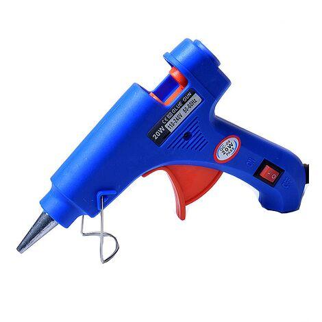 TRIOMPHE Bleu pistolet à colle thermofusible mini enfants fait à la main bricolage bijoux accessoires 20 W pistolet à fusion électrique pistolet à colle chaude plug dans pistolet à colle haute température