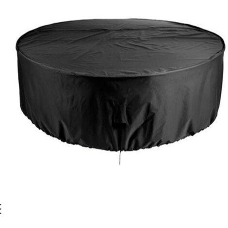 """main image of """"TRIOMPHE Couverture de meuble ronde Housse de table ronde de jardin extérieur étanche à la poussière et à l'eau Couverture de piscine ronde extérieure"""""""