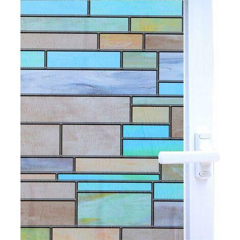 Triomphe Film de vitre Film Film Électrostatique Mur de mur Gloupe Film Verre Verre Modèle de briques laquées 100x35cm