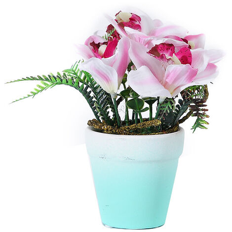 Triomphe Fresh Art Fleur artificielle et décoration simple de fleur rose dans la fleur artificielle d'orchidée (bleu)