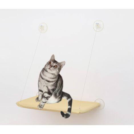 TRIOMPHE Hamac pour chat, nid pour animaux de compagnie, hamac pour animaux de compagnie, ventouse pour chat, coussin pour chat, amovible et lavable 55 CM * 35 CM