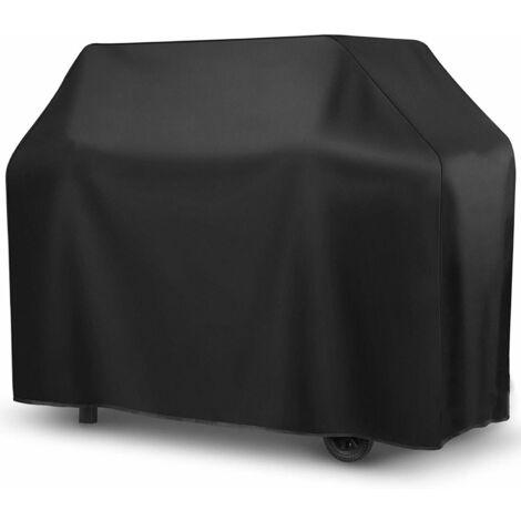 TRIOMPHE Housse de barbecue extérieur noir et intérieur argent (carré XXL) 190 * 71 * 117cm