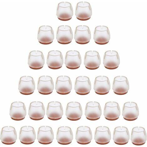TRIOMPHE Housse de protection pour pied de table et chaise n ° 3 (ensemble de 32 pièces)