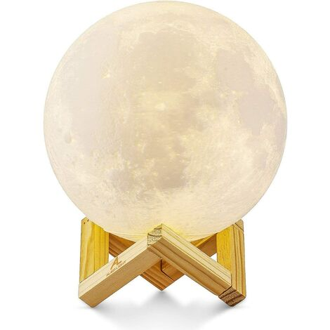 TRIOMPHE Lampe de chevet, petite nuit, etc. lampe tactile, lampe lune 15cm
