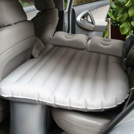 TRIOMPHE Lit gonflable pour voiture Matelas de couchage pour voiture Coussin d'échappement central et arrière Lit de voyage Gris