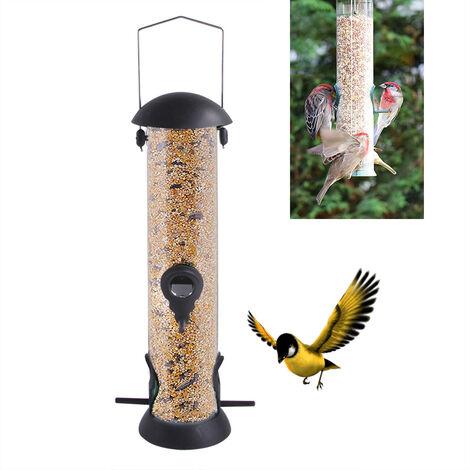 """main image of """"TRIOMPHE Mangeoire Oiseau Distributeur De Nourriture pour Oiseaux, Distributeur De Nourriture pour Oiseaux, Couvercle Écologique en Fer, Mangeoire Écologique pour Oiseaux Sauvages"""""""