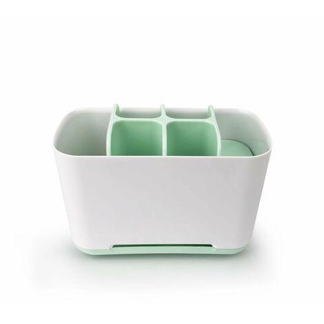 TRIOMPHE Organisateur brosse à dents électrique porte-brosse à dents, support pour brosse à dents porte-dentifrice, support pour brosse à dents étui de maquillage, salle de bains, 1 pièce( vert)
