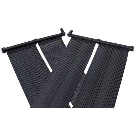 TRIOMPHE Panneaux solaires de chauffage de piscine 4 pcs 80x310 cm
