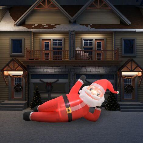 TRIOMPHE Père Noël gonflable LED IP44 Rouge 360 cm XXL
