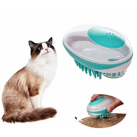 TRIOMPHE Pet Cat Toy Pet Supplies Fournitures pour animaux de compagnie Brosse pour animaux de compagnie Brosse de massage pour le bain Chats et chiens moyens et petits Brosse de bain générale, vert