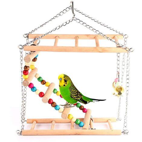 TRIOMPHE Petit et moyen jouet perroquet échelle pivotante échelle d'escalade Double escalier jouet oiseau perroquet gris soleil doré