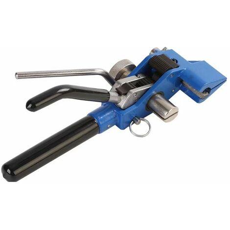 TRIOMPHE Pince à cravate à câble zippée en acier inoxydable, outil pour lots de largeur 4.6-25mm épaisseur 0.25-1.2mm déclencheur, action avec Cutter