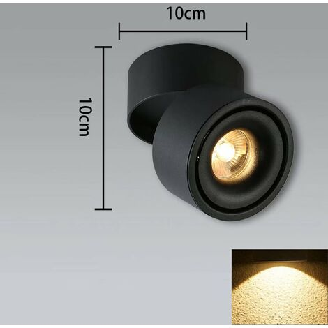 TRIOMPHE Plafonnier LED Spotlight (5W noir (lumière chaude