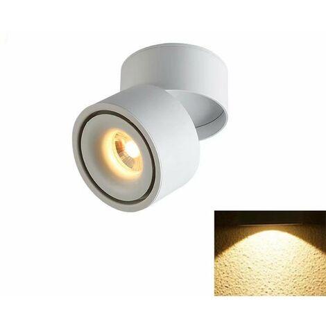 TRIOMPHE Spotlight LED Plafonnier Boutique Plafonnier Commercial Rail Lumière Ménage Angle Réglable Magasin De Vêtements (5W Blanc (Lumière Chaude)