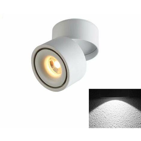 TRIOMPHE Spotlight LED Plafonnier Boutique Plafonnier Commercial Rail Lumière Ménage Angle Réglable Magasin De Vêtements (5W Blanc (Lumière Froide)