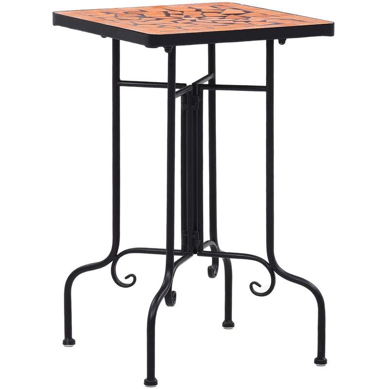 Table de bistro mosaïque Terre cuite Céramique - Triomphe