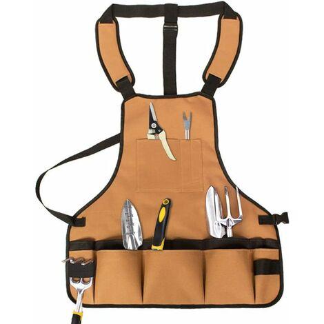 TRIOMPHE Tablier à outils imperméable coton nylon marron