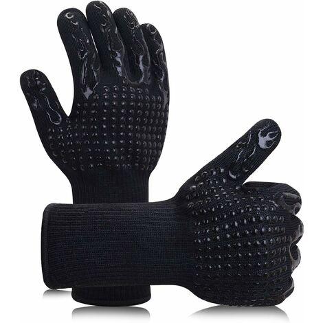 TRIOMPHE Une paire de gants de barbecue résistants à la chaleur (torches noires