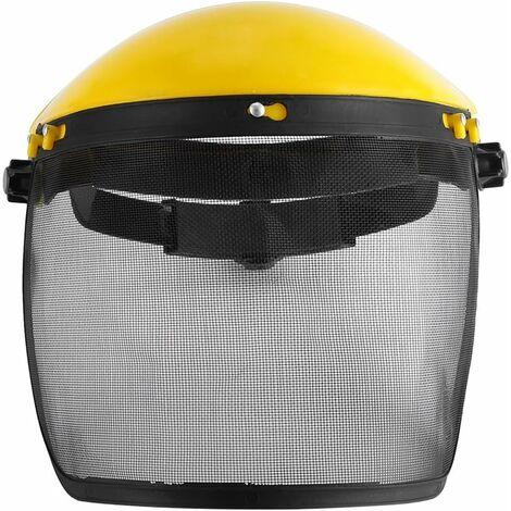 TRIOMPHE Visière de protection Visière en maille métallique anti-chocs Masque anti-copeaux poli (jaune