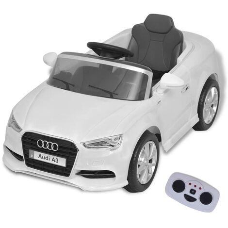 Triomphe Voiture électrique pour enfants télécommandée Audi A3 Blanc