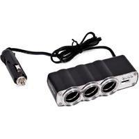 Triple prise Allume-Cigare et 1 USB - 12V - Caliber