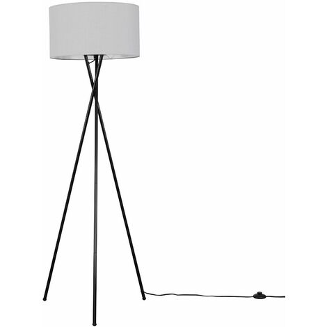 """main image of """"Tripod Floor Lamp in Black with Shade - Black"""""""