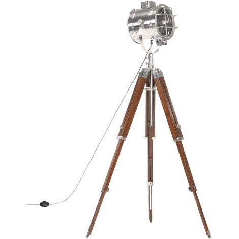 Tripod Floor Lamp Solid Mango Wood 165 cm - Brown