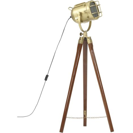 Tripod Floor Lamp Solid Mango Wood 97 cm - Brown