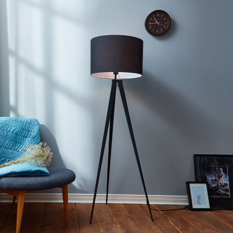 Tripod Floor Lamp with Black Shade by Versanora Modern Lighting VN-L00006-UK