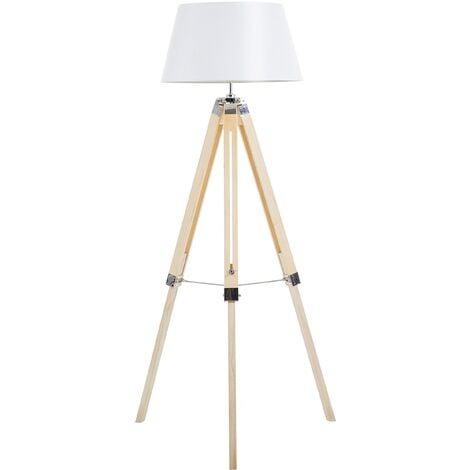 Tripod Floor Lamp with Light Wood MADEIRA