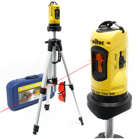 Trípode láser de línea cruzada con ángulos y áreas de medición de 1,2 m