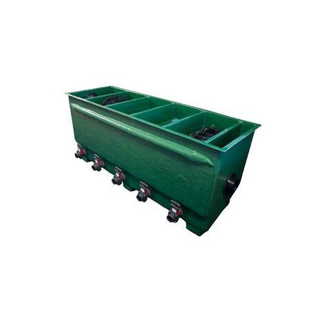 Tripond Teichfilter 5 Kammer Reihenfilter mit Deckel und Filtermaterial