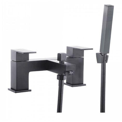Trisen Kawa Two Handle Black Bath Shower Mixer With Kit TT924