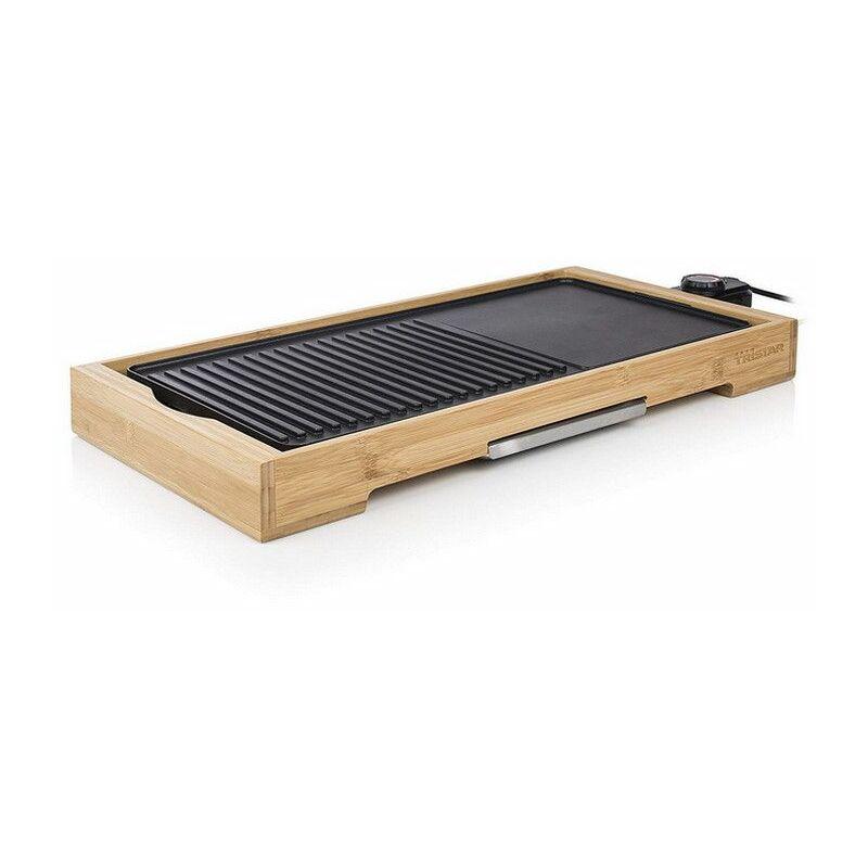 plancha gril électrique 2200w 51x25,4cm - bp-2641 - tristar