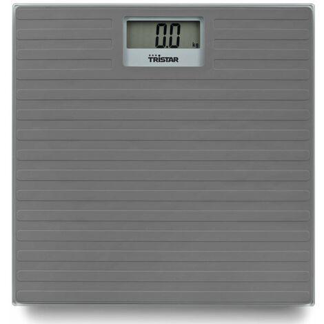Tristar Pèse-personne de salle de bain 150 kg Gris