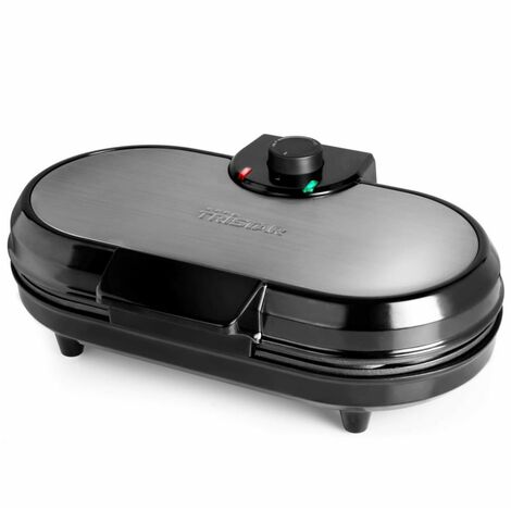 Tristar Piastra per Waffle 1200 W per 10 Waffle Nera