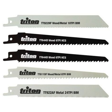 Triton 954242 Recip Saw Blade Set 5pce 150mm