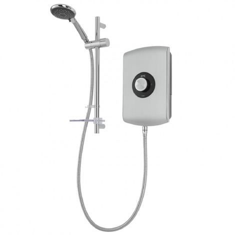 Triton Amore Electric Shower Brushed Steel 9.5kw