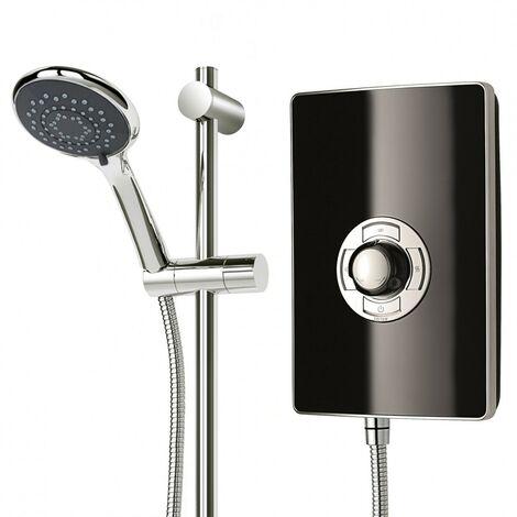 """main image of """"Triton Aspirante 9.5KW Gloss Black Electric Shower - Includes Head + Riser Rail"""""""