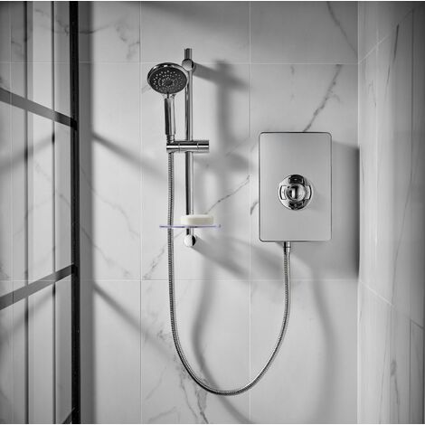 Triton Aspirante Electric Shower - Brushed Steel 9.5kW
