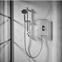 Triton Aspirante Electric Shower - Brushed Steel 9.5kW