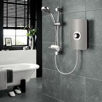 Triton Aspirante Electric Shower - Gun Metal 9.5kW