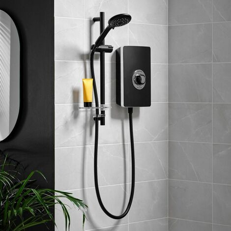 Triton Aspirante Enhance Electric Shower 8.5kW Matte Black 5 Spray Head Modern