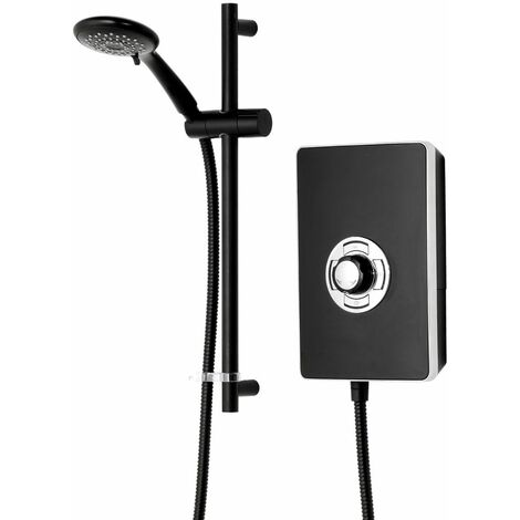 Triton Aspirante Enhance Electric Shower 9.5kW Matte Black 5 Spray Head Modern