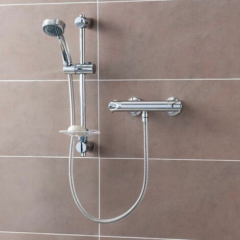 Triton Dene Cool Touch Thermostatic Bar Mixer Shower - UNDETHBMCT