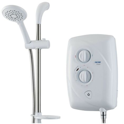 Triton Evani Fast Fit 8.5Kw Slimline Electric Shower Easy Fit White Chrome T80Z