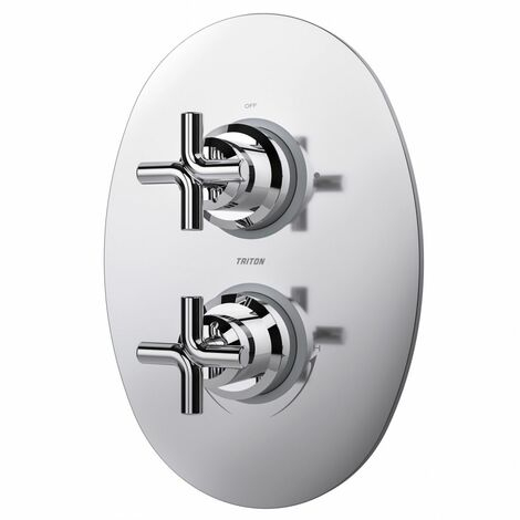 Triton Kensey Mixer Shower Valve Dual Control Diverter Chrome