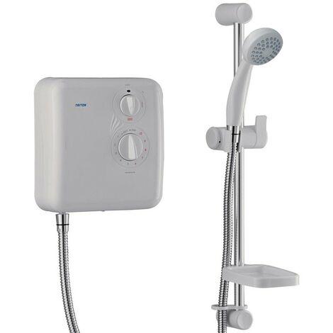 "main image of ""Triton T60x 8.5kW White Electric Shower - Rp T55I T60I Hawaii Amber Aquatronic"""